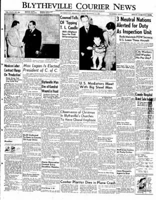 The Courier News from Blytheville, Arkansas on December 14, 1951 · Page 1