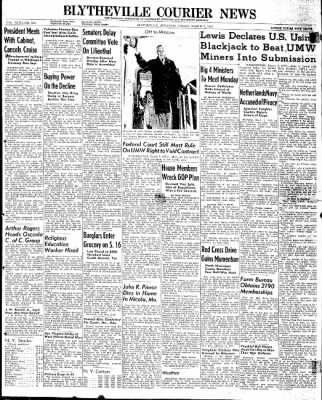 The Courier News from Blytheville, Arkansas on March 7, 1947 · Page 1