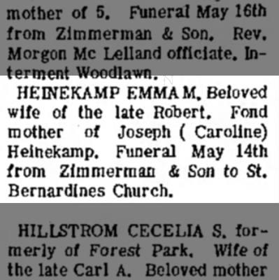 Emma Heinekamp Obituary