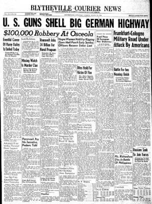 The Courier News from Blytheville, Arkansas on March 13, 1945 · Page 1