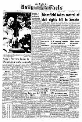 Redlands Daily Facts from Redlands, California on February 17, 1964 · Page 1