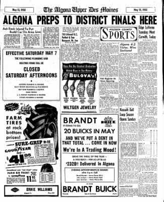 The Algona Upper Des Moines from Algona, Iowa on May 12, 1955 · Page 7