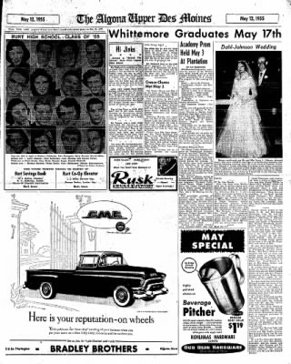 The Algona Upper Des Moines from Algona, Iowa on May 12, 1955 · Page 19