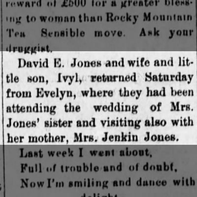 Bevier Appeal MO 1901 09-13 Fri Pg 01 Sister to Miriam