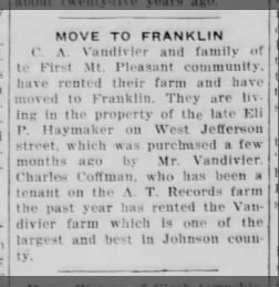 E P Haymaker's Franklin home sold