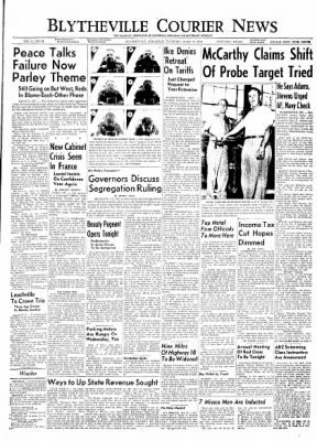 The Courier News from Blytheville, Arkansas on June 10, 1954 · Page 1