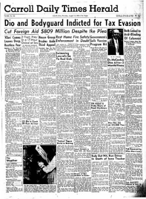 Carrol Daily Times Herald from Carroll, Iowa on August 15, 1957 · Page 1