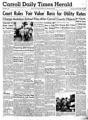 Carrol Daily Times Herald from Carroll, Iowa on September 17, 1957 · Page 1
