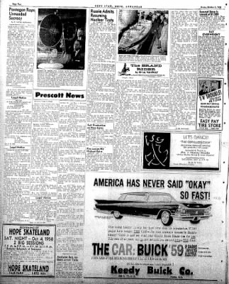 Hope Star from Hope, Arkansas on October 3, 1958 · Page 2