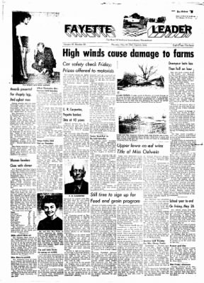 Fayette County Leader from Fayette, Iowa on May 18, 1961 · Page 1