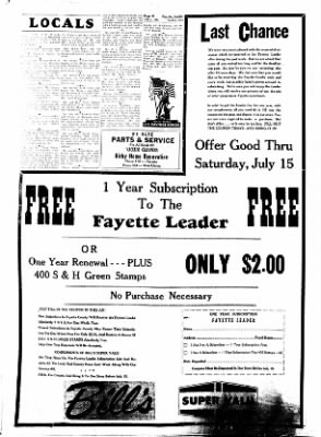 Fayette County Leader from Fayette, Iowa on July 6, 1961 · Page 6