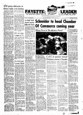 Fayette County Leader from Fayette, Iowa on December 7, 1961 · Page 1