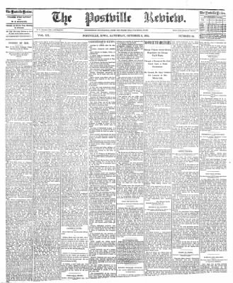 The Postville Review from Postville, Iowa on October 8, 1892 · Page 1