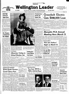 The Wellington Leader from Wellington, Texas on March 12, 1964 · Page 1