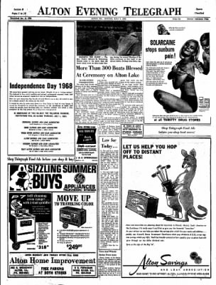 Alton Evening Telegraph from Alton, Illinois on July 1, 1968 · Page 17