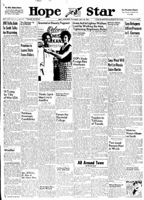 Hope Star from Hope, Arkansas on July 13, 1961 · Page 1