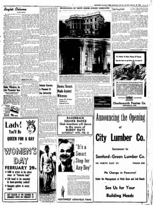 Northwest Arkansas Times from Fayetteville, Arkansas on February 23, 1952 · Page 5