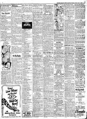 Northwest Arkansas Times from Fayetteville, Arkansas on May 3, 1952 · Page 9