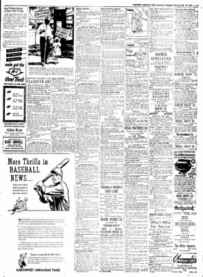 Northwest Arkansas Times from Fayetteville, Arkansas on May 10, 1952 · Page 9