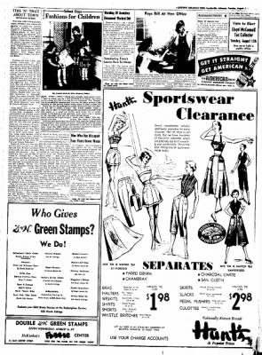 Northwest Arkansas Times from Fayetteville, Arkansas on August 5, 1952 · Page 3