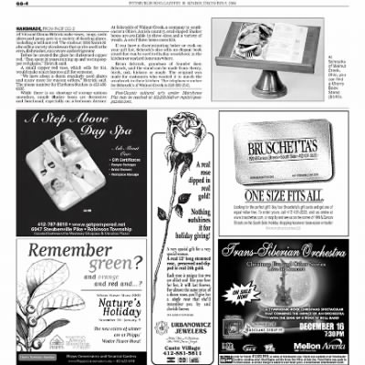Pittsburgh Post-Gazette from Pittsburgh, Pennsylvania on December 5, 2004 · Page 87